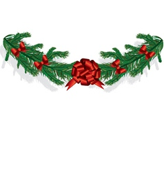 Christmas Branches with Bows vector