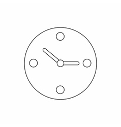 Clock icon thin line style vector image