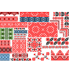 collection of 30 seamless ethnic patterns for vector image