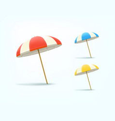 color umbrellas set isolated om whita background vector image