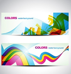 colorful banner set vector image