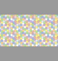 colorful honeycomb pattern seamless background vector image
