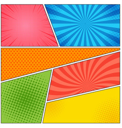 Comic book page colorful abstract template vector