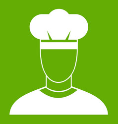 cook icon green vector image