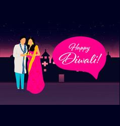 Creative diwali festival template design happy vector
