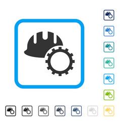 development hardhat framed icon vector image