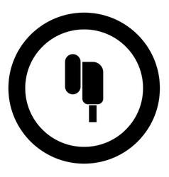 Eearphone plug icon black color in round circle vector