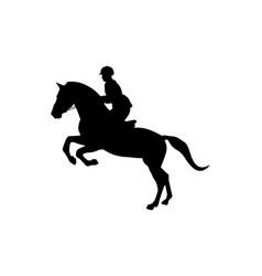 equestrian sport women rider vector image