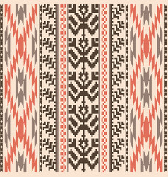 Ethnic style textile seamless pattern vector