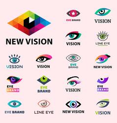 eye blinker business vision daylight glimmer vector image