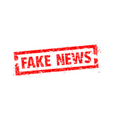 fake news rubber stamp on a cell phone vector image