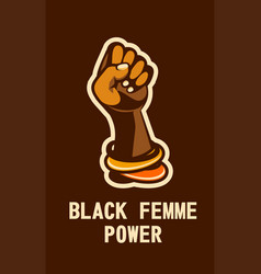 feminism concept of female power vector image