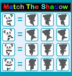 find the correct shadow of the panda vector image