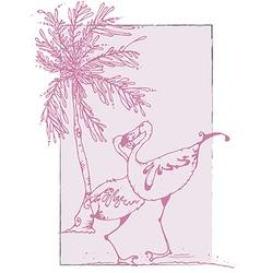 Flamingo lovers vector