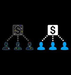 flare mesh carcass money recipients icon vector image