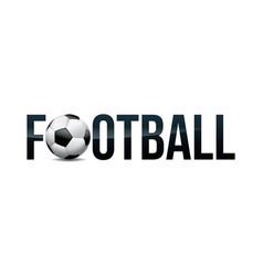 Football soccer concept word art vector