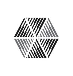 geometric hexagonal logo modern hexagon design vector image