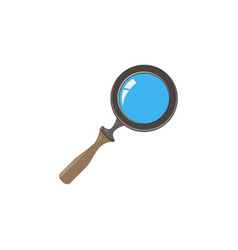 glass magnifying icon search magnifier zoom vector image
