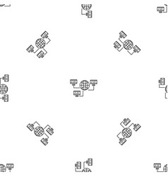 Global web network pattern seamless vector