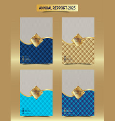 gold annual reporting business cover design vector image