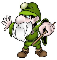 Green Dwarf vector image