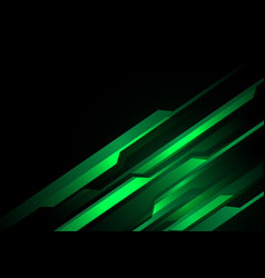 green light line futuristic on black design vector image