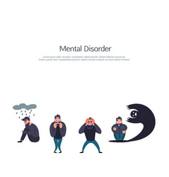 Group of people with psychology problem vector