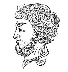 hand drawn with god wine artwork with profile vector image