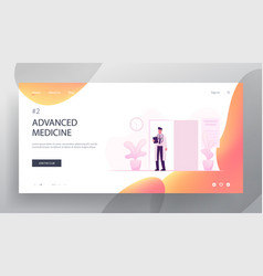health and medicine website landing page young vector image