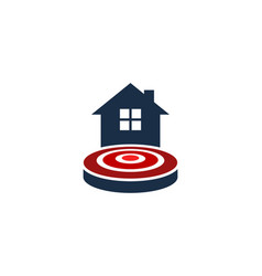 home target logo icon design vector image