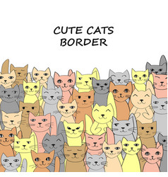 horizontal cats banner with place for text vector image