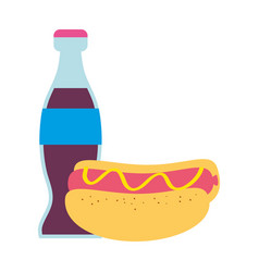Hot dog and soda design vector