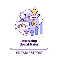 Increasing social status concept icon vector