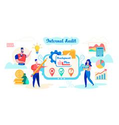 Internal audit development plan cartoon flat vector