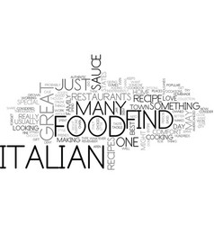 Italian food text background word cloud concept vector