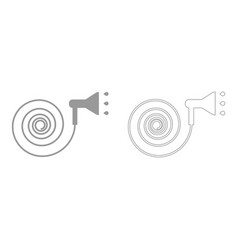 Jets of water irrigates set icon vector