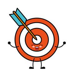 kawaii arrow and bow icon vector image