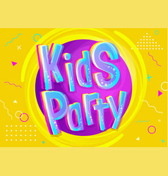 kids party in cartoon style vector image