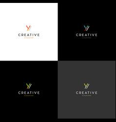 letter y technology creative logo design vector image