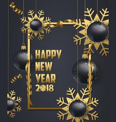 Luxury elegant merry christmas and happy new year vector