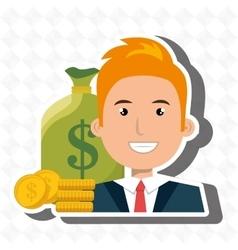 Man money cash coins vector