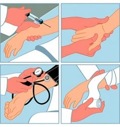 Medical procedures vector