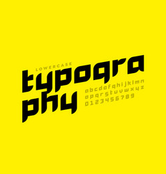 modern style lowercase font design alphabet vector image