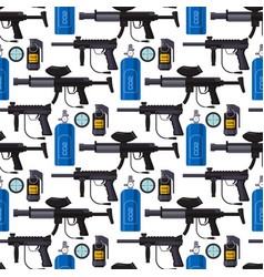 Paintball club protection gun sport game seamless vector