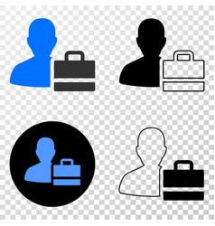 person case eps icon with contour version vector image