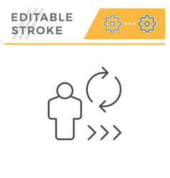 person review editable stroke line icon vector image
