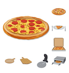Pizza and food symbol vector