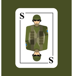 Playing card soldiers Conceptual new card military vector