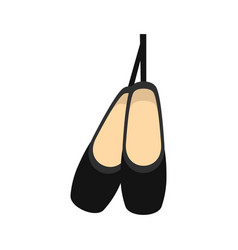 Pointe shoes icon flat style vector