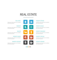 real estate infographic 10 option concept vector image